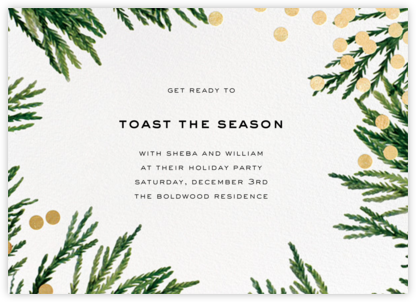 Confetti Branches - Gold - kate spade new york - Before the invitation cards