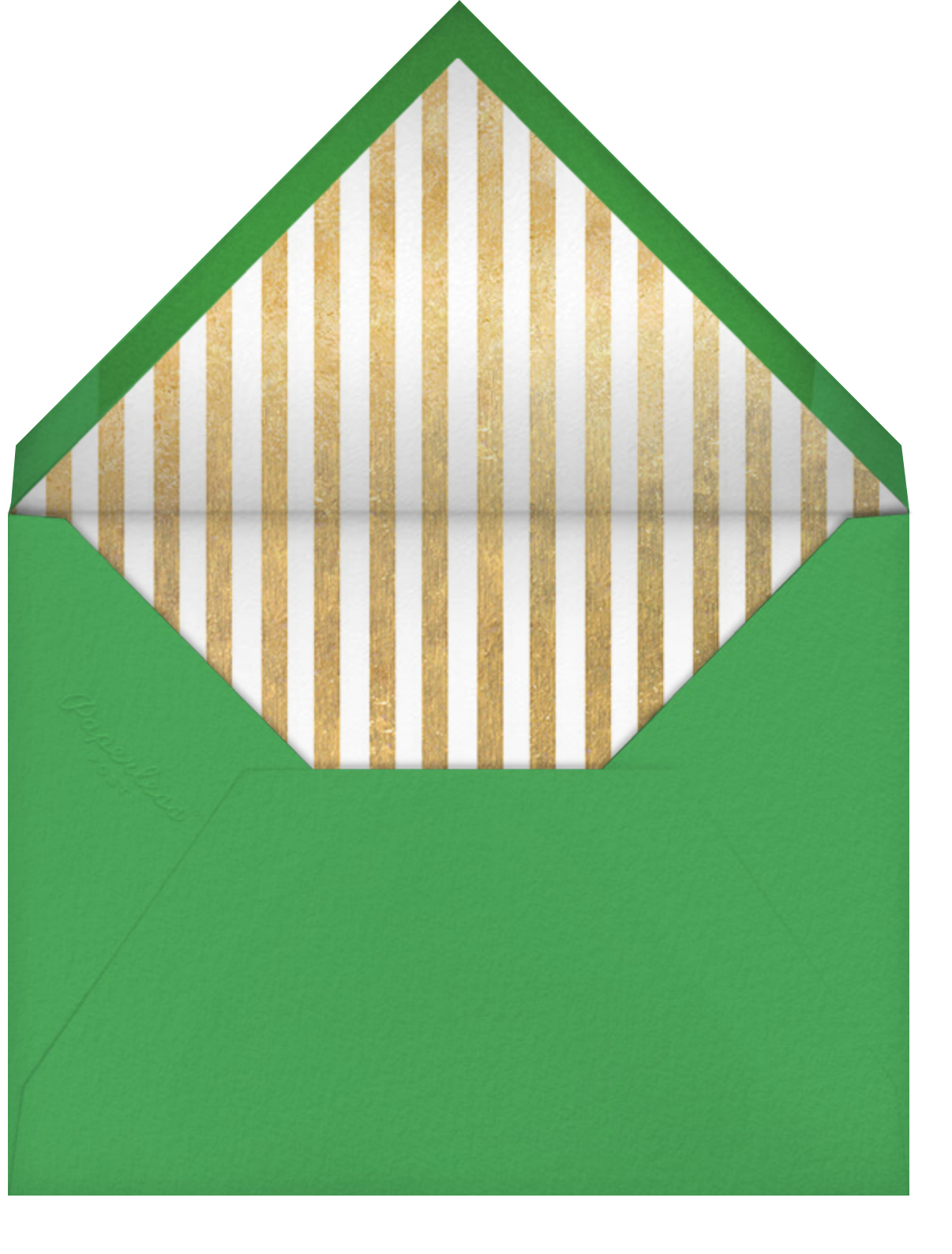Carnaby - Red/Green - Paperless Post - Holiday save the dates - envelope back