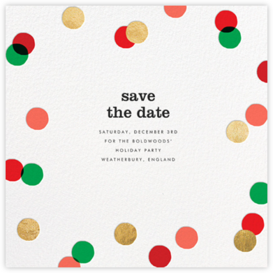Carnaby - Red/Green - Paperless Post - Holiday Save the Dates