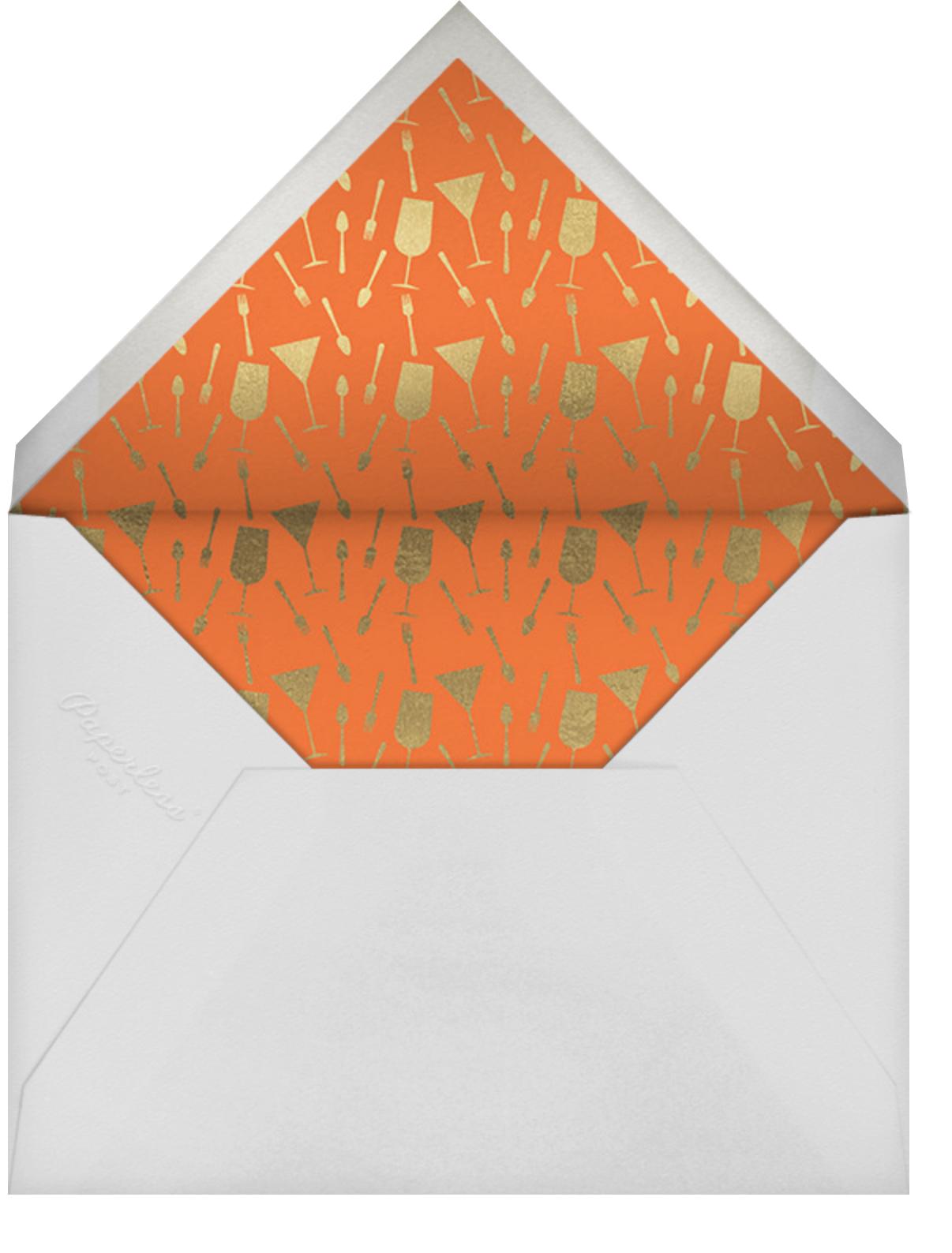 Making Merry - Paperless Post - Winter entertaining - envelope back