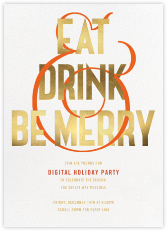 Making Merry - Paperless Post - Winter Party Invitations