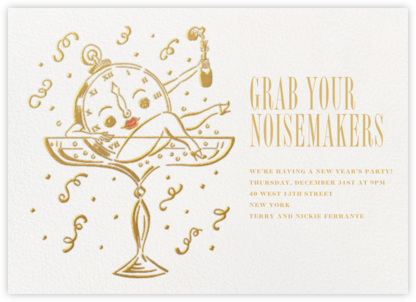 Bubbly Bath - Paperless Post - New Year's Eve Invitations