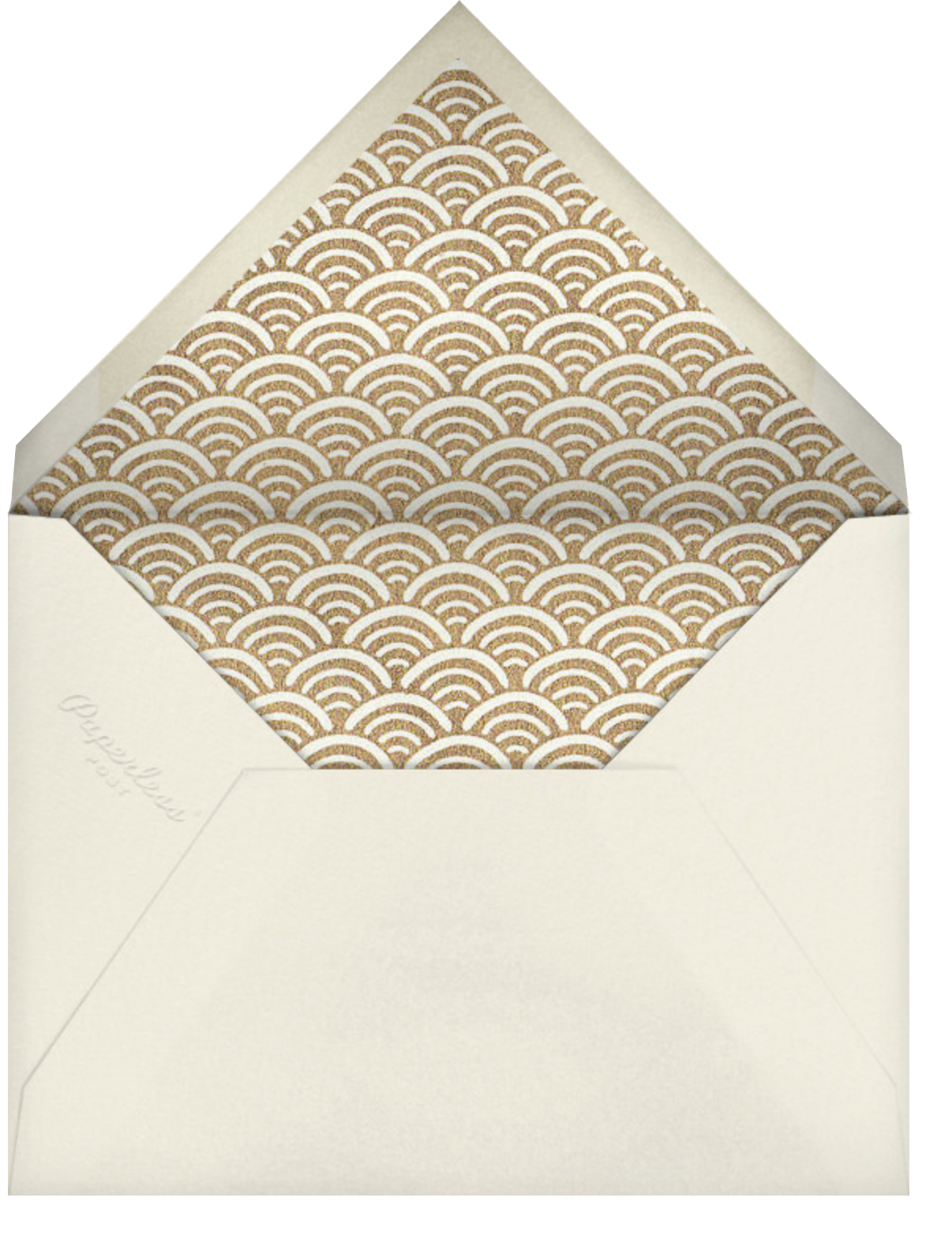 Bubbly Bath - Paperless Post - New Year's Eve - envelope back