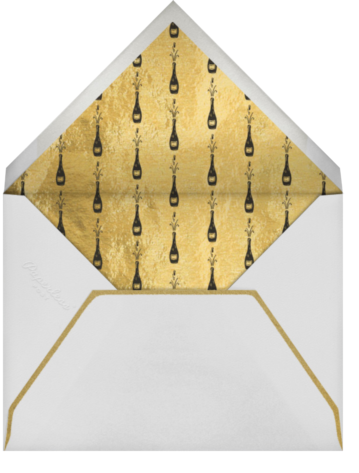 Feeling Bubbly - Paperless Post - New Year's Eve - envelope back