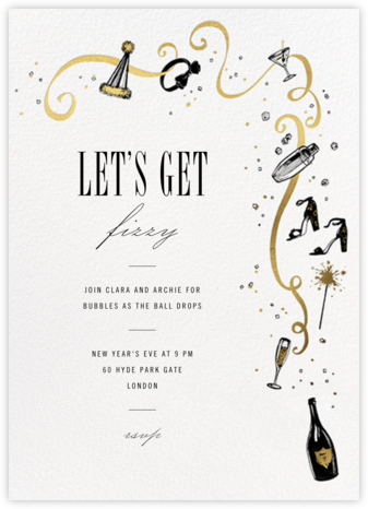 Feeling Bubbly - Paperless Post - New Year's Eve Invitations