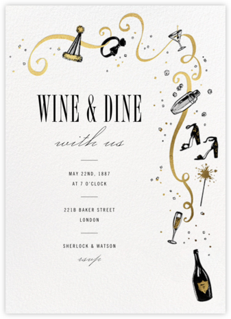Feeling Bubbly - Paperless Post - Holiday party invitations