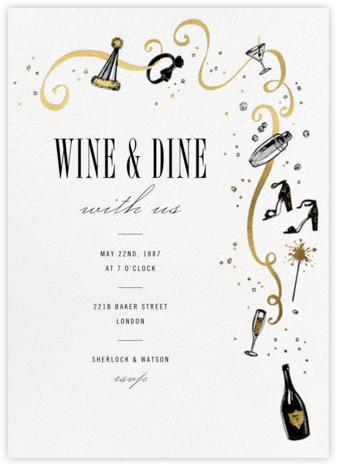 Feeling Bubbly - Paperless Post - Holiday invitations