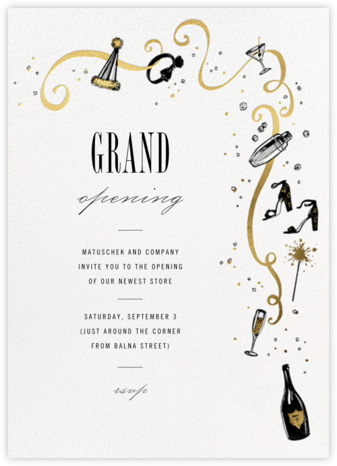 Feeling Bubbly - Paperless Post - Launch Party Invitations