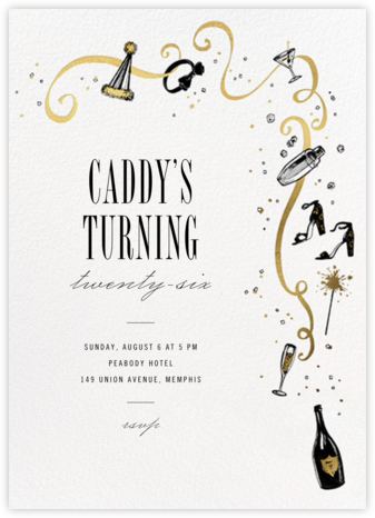 Feeling Bubbly - Paperless Post - Adult Birthday Invitations