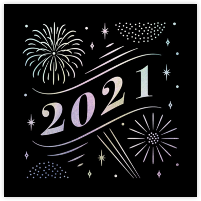 A Glowing New Year (Square) - Paperless Post -
