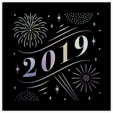 A Glowing New Year (Square) - Paperless Post - New Year cards