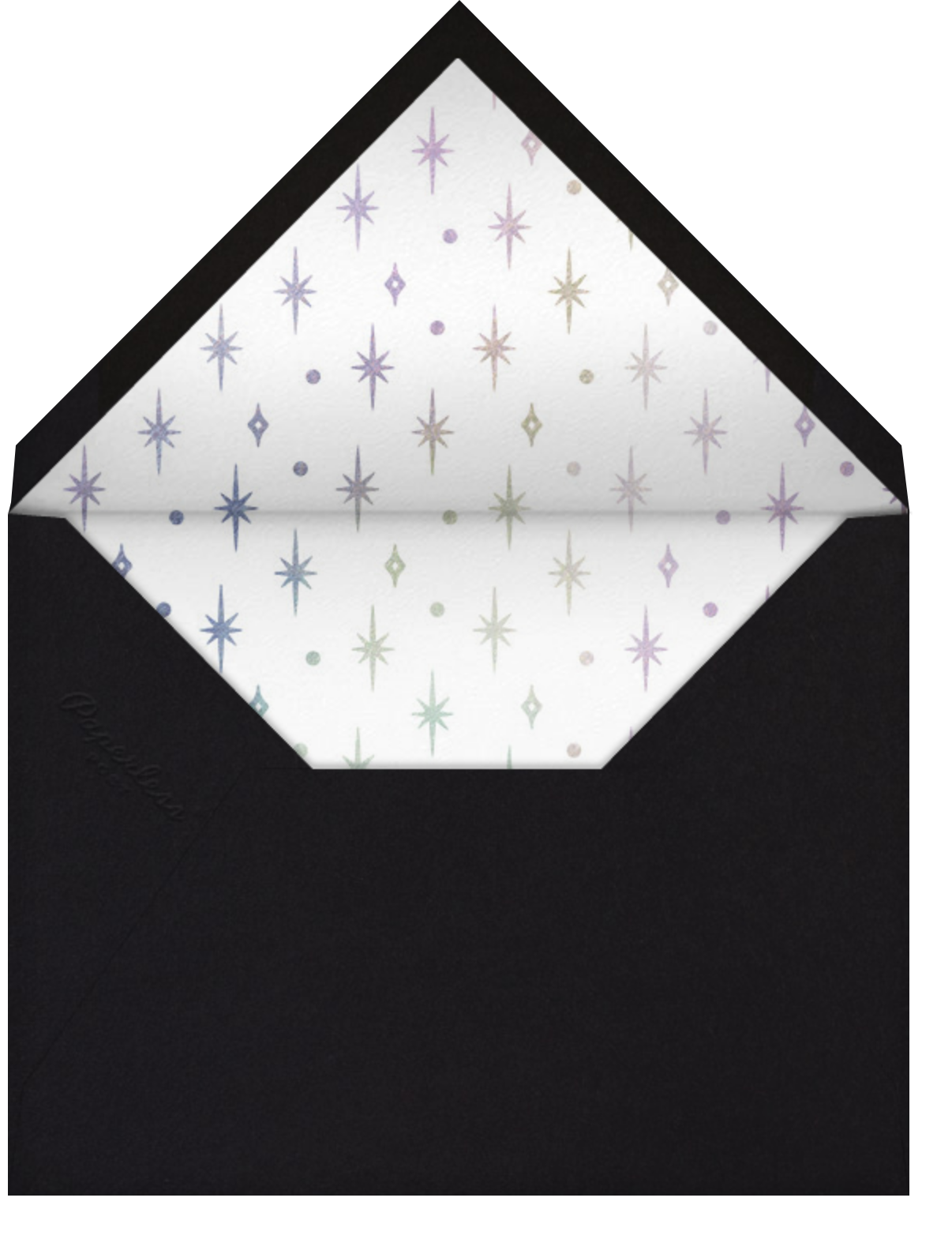 A Glowing New Year (Square) - Paperless Post - Company holiday cards - envelope back