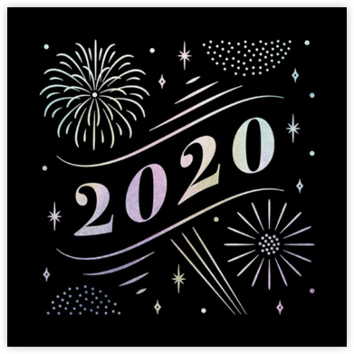 A Glowing New Year (Square) - Paperless Post - For organizations