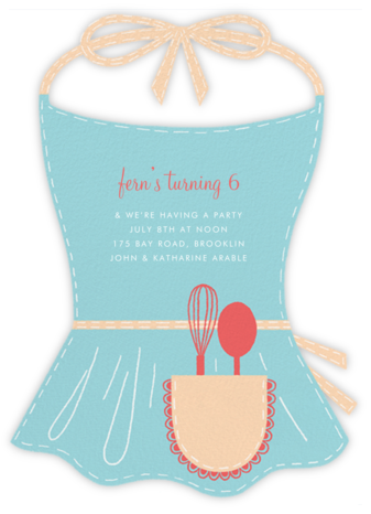 Apron Strings - Paperless Post - Kids' Birthday Invitations