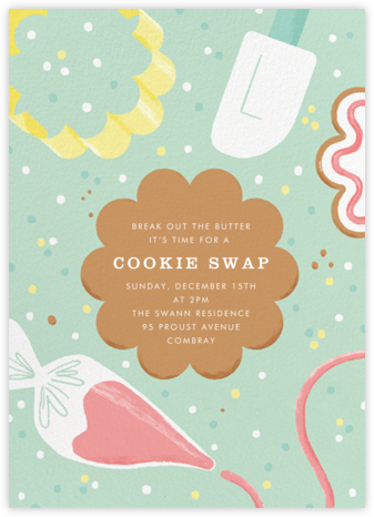 Decorator's Showcase - Paperless Post - Cookie Swap Invitations