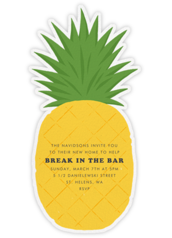 Pineapple Fling - Paperless Post - Housewarming party invitations