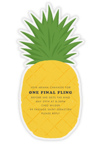 Pineapple Fling - Paperless Post - Bachelorette Party Invitations