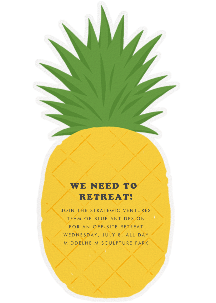 Pineapple Fling - Paperless Post - Casual entertaining