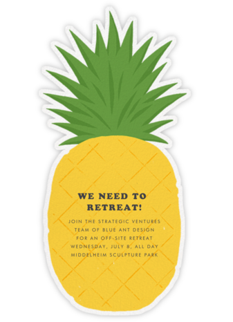 Pineapple Fling - Paperless Post - Casual Party Invitations