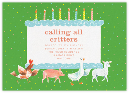 Funny Farm - Paperless Post - Online Kids' Birthday Invitations