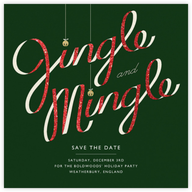 Jingle Bell Mingle - Paperless Post - Holiday save the dates