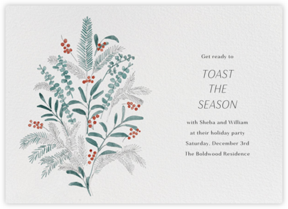Seasonal Sprigs - Paperless Post - Holiday Save the Dates