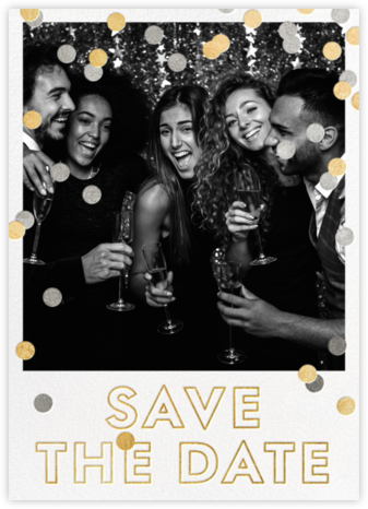 Save the Date Baronial - White | tall