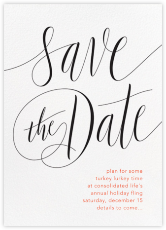 Saint-Preux - Black - Paperless Post - Holiday Save the Dates