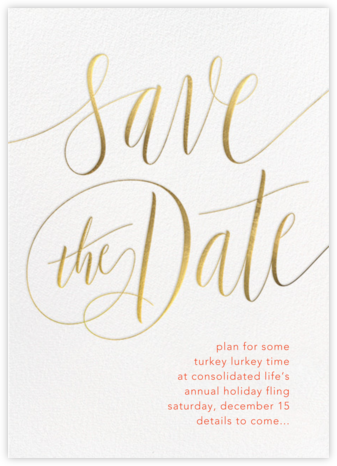 Saint-Preux - Gold - Paperless Post - Holiday Save the Dates