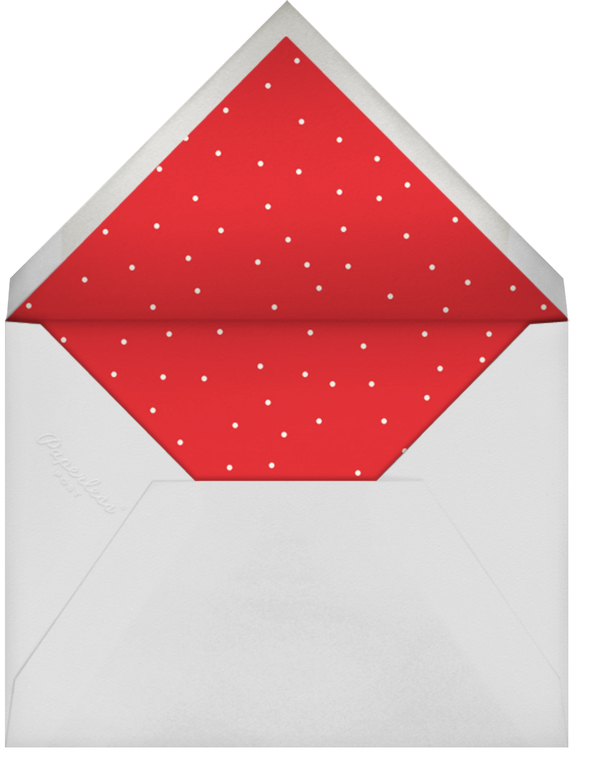 Bobbin (Save the Date) - Red - Paperless Post - Holiday save the dates - envelope back