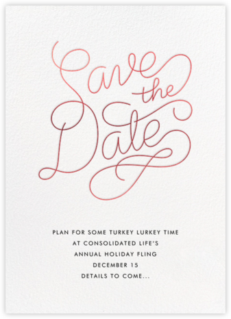 Bobbin (Save the Date) - Red - Paperless Post - Holiday Save the Dates
