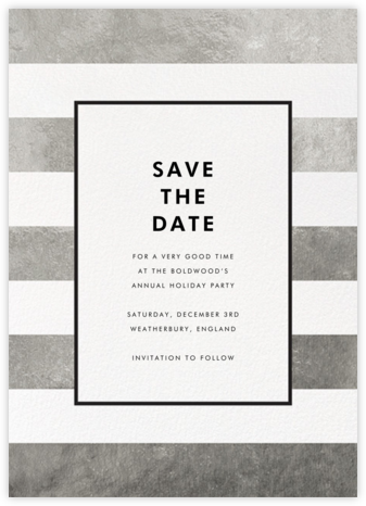 Stripe Suite (Save the Date) - Silver - kate spade new york