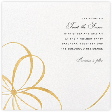 Belle Boulevard (Save the Date) - Gold - kate spade new york - Holiday save the dates