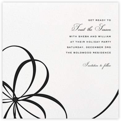 Belle Boulevard (Save the Date) - Black - kate spade new york - Before the invitation cards