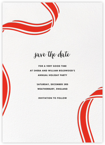 Ellis Hall II (Tall) - Red - kate spade new york - Before the invitation cards