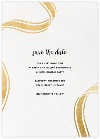 Ellis Hall II (Tall) - Gold - kate spade new york - Holiday Save the Dates