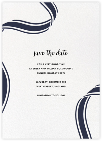 Ellis Hall II (Tall) - Navy - kate spade new york - Holiday save the dates