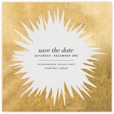 Exuberant - Gold - Kelly Wearstler - Holiday save the dates
