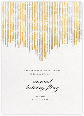 Josephine Baker (Save the Date) - White/Gold - Paperless Post - Holiday Save the Dates