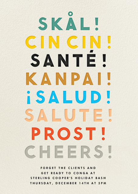 Cheers Language - Cream - The Indigo Bunting - New Year's Eve