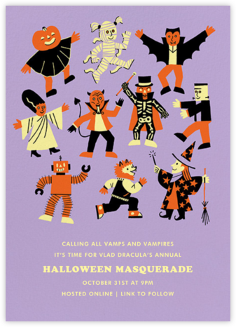 Scary Monsters - Paperless Post - Halloween invitations