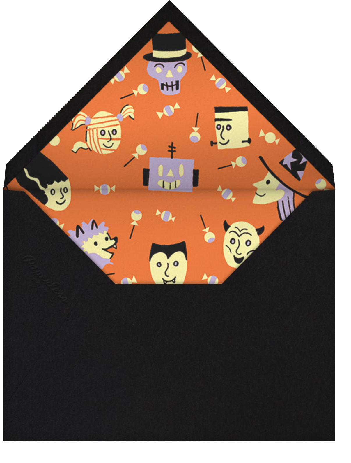 Scary Monsters - Paperless Post - Halloween - envelope back