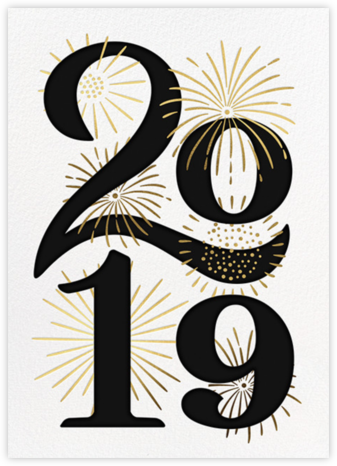 A Sparkling New Year - Paperless Post - Company holiday cards
