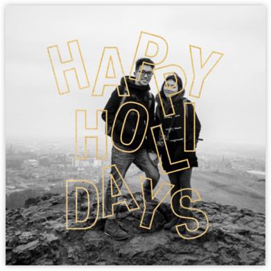 Jubilant Jumble - Holiday - Paperless Post - Holiday Cards