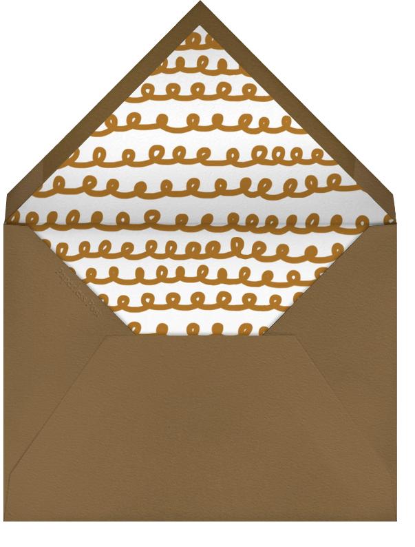 Gingerbread - Happy Holidays (Blood Orange) - The Indigo Bunting - Envelope