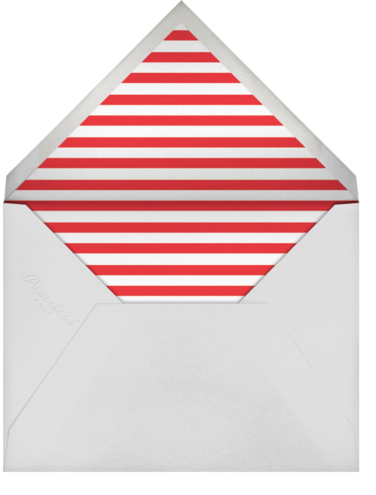 Gingerbread Invite - Blood Orange - The Indigo Bunting - Christmas party - envelope back