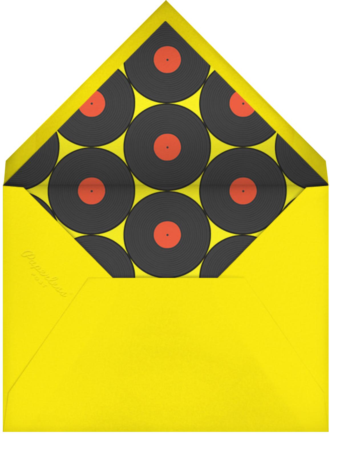 Better on Vinyl - Paperless Post - Adult birthday - envelope back