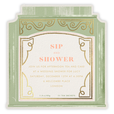 Sweet Tea - Paperless Post - Bridal shower invitations