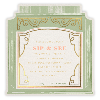 Sweet Tea - Paperless Post - Baby Shower Invitations