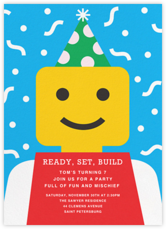 Building Block Party - Paperless Post - Online Kids' Birthday Invitations